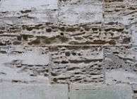 Salt damages, castle of Kronburg, Denmark, alveolar weathering; (c) H.-J. Schwarz
